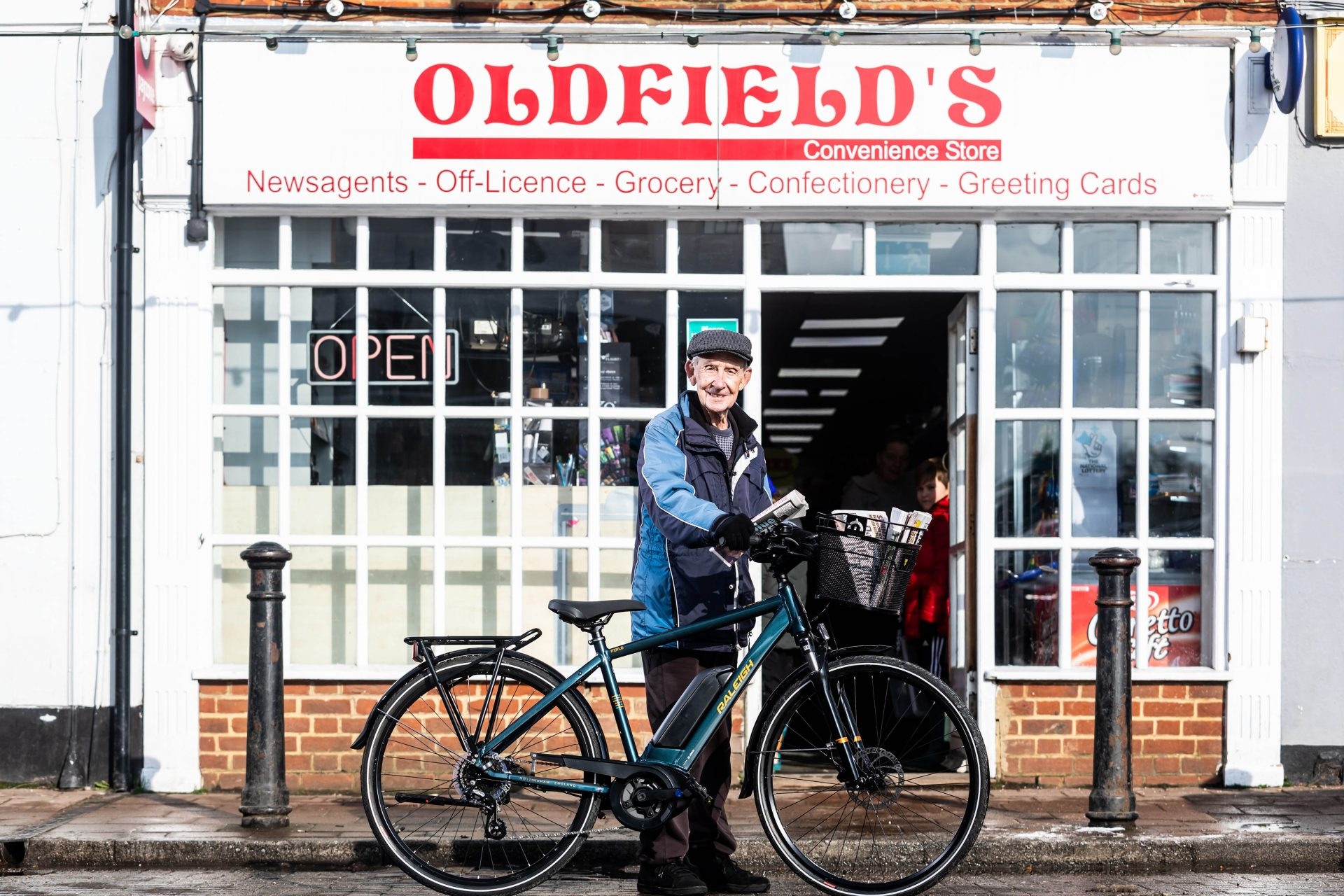 Evans Cycles and Raleigh help one of Britain's oldest paperboys, 80, postpone retirement with gifted electric bike